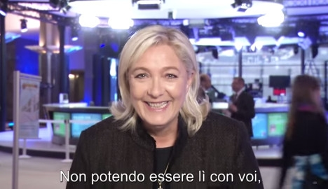 Le Pen shamed for Rome 'neo-fascist rally' support