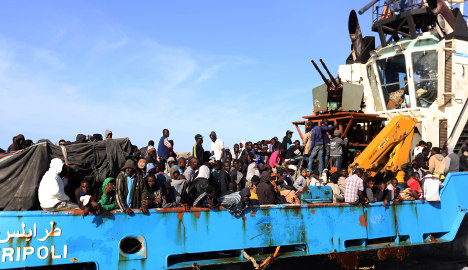 Italian navy finds migrant disaster boat