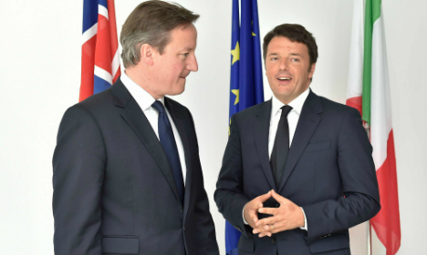 We will back Italy in migration crisis: UK PM