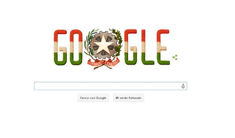 Google honours Italy... with Hungary's flag