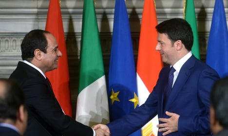 After Egypt bomb Renzi hails Sisi as 'great leader'