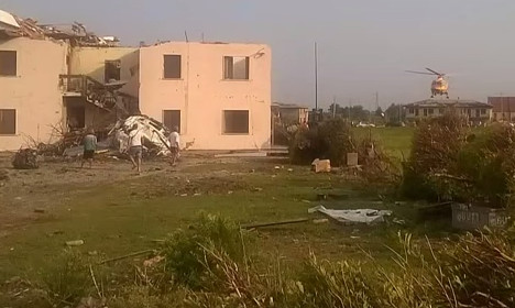 Migrants rush to help after Venice tornado