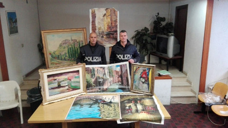 Rome airport cleaners in pilfered artworks racket