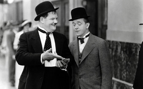 Lost Laurel and Hardy snap from Italy goes viral
