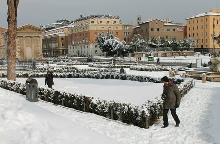 Brrr! Italy braced for snow and hail as winter finally arrives