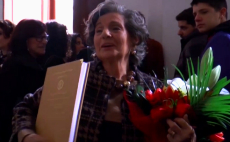 Italian gran scoops degree with top marks – aged 87