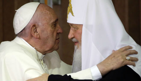 Pope and Patriarch meet first time in 1,000 years