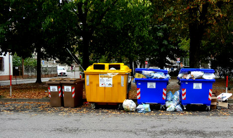 Italy newborn saved from bin minutes before it was emptied