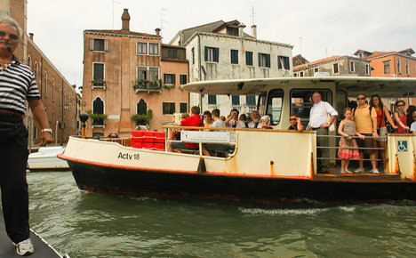 Locals first: Venice makes tourists wait for water buses