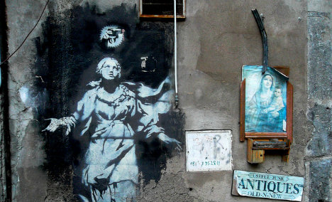 Banksy's Naples Madonna placed under protection