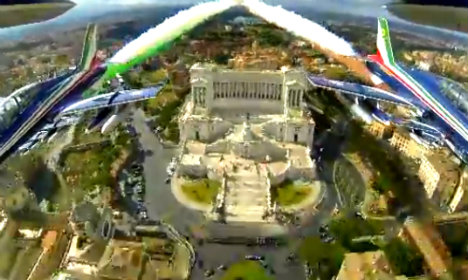 Air Force video shows stunning Rome from above