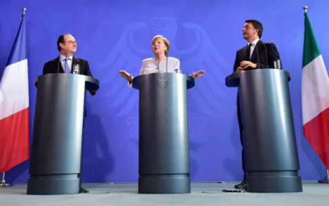 Italy, Germany and France vow 'new impulse' for EU