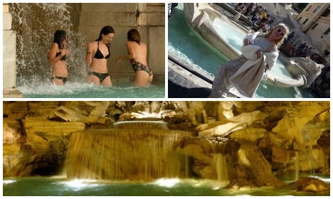 Rome cracks down on splash-happy fountain dippers