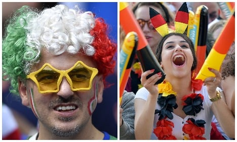 Germany v Italy: battle of hair, towers and two-wheelers