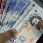 British pound falls again and heads for parity against euro