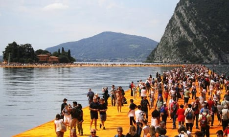 Floating Piers Project on Italian lake closes