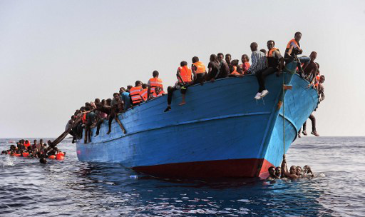 Five bodies recovered, 300 migrants rescued in Mediterranean