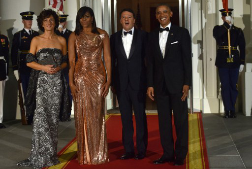 Renzi tells Michelle Obama: Your speeches are better than your tomatoes