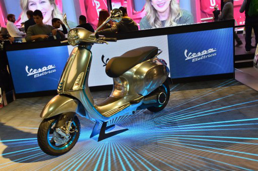 Italy's iconic Vespa goes electric