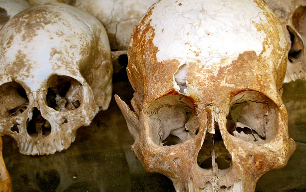 Firefighters uncover mystery human skulls in Italy quake rubble