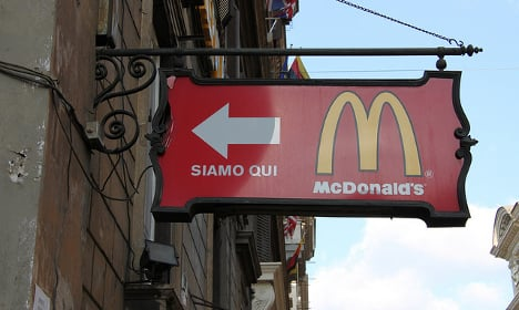 McDonald's opens by the Vatican despite protests