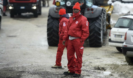 African asylum seekers join avalanche relief effort