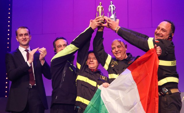 Italy's firefighters crowned the best in the world