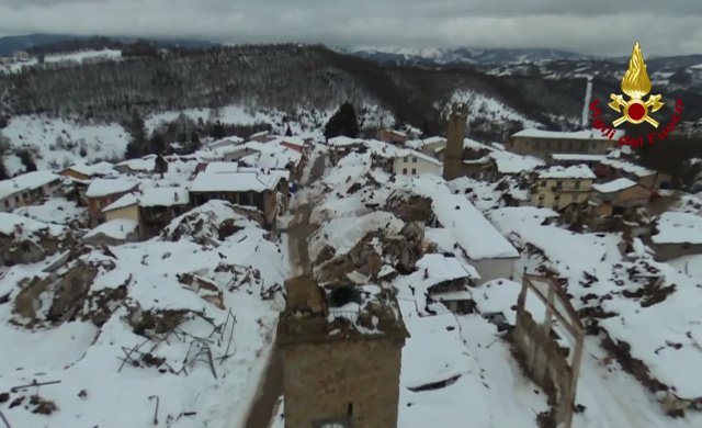VIDEO: Italy's firefighters win award for use of drones in earthquake recovery