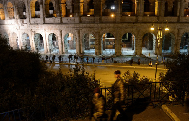 Tourist charged after carving name into Colosseum