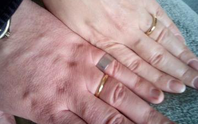 This couple had to sell their wedding rings to pay for food – so a priest had new ones made