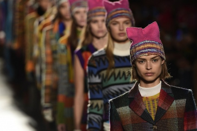 Pussyhats on the catwalk as Milan Fashion Week gets political