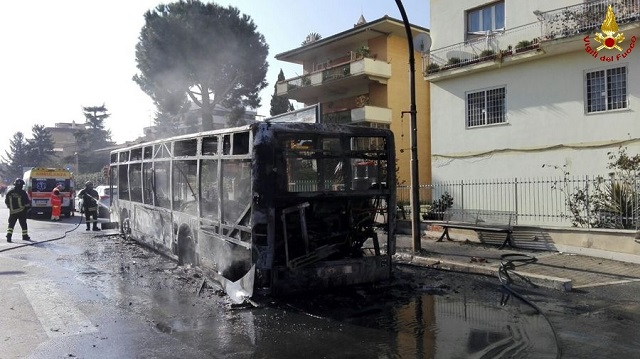 Four of Rome's public buses have burst into flames this month