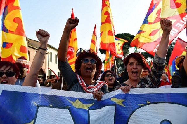 IN PICTURES: Politicians and protesters over the weekend in Rome