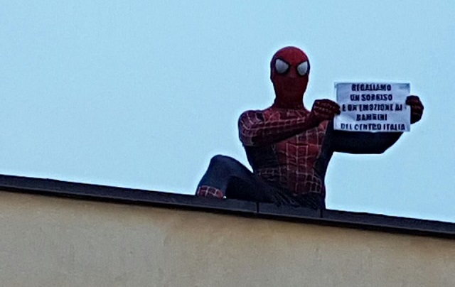 'Why I walked across Italy dressed as Spiderman to help quake survivors'
