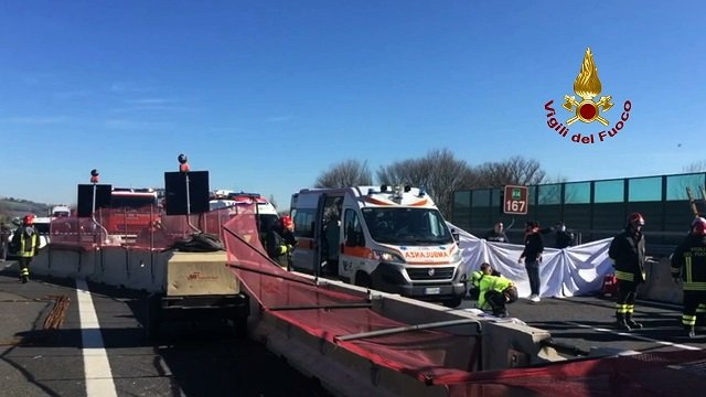 Two dead after motorway bridge collapses in Italy