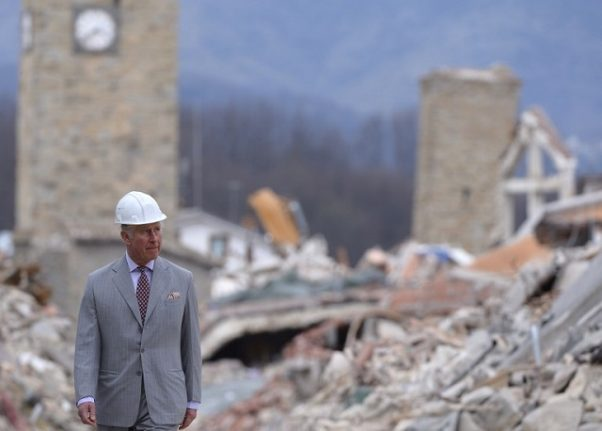 IN PICTURES: Prince Charles in Italy's quake-damaged towns