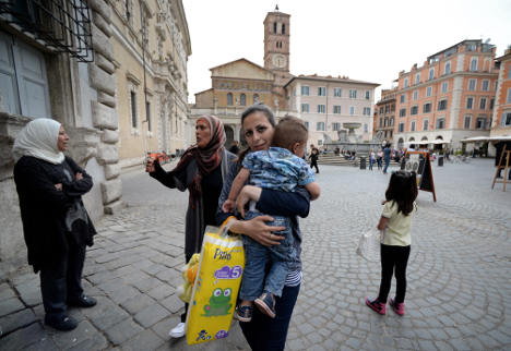 Pope's Syrians in Rome: life a year on
