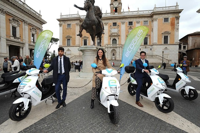 Scooter-sharing: Rome unveils fleet of scooters for rent