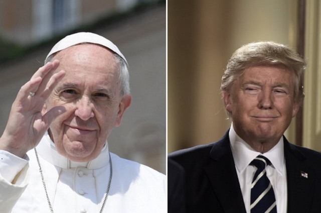 Donald Trump's team is organizing a meeting with Pope Francis