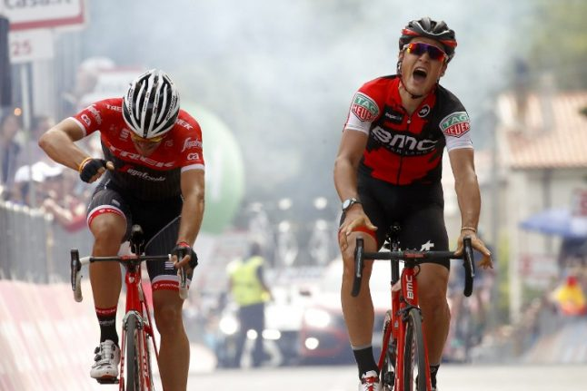 Silvan Dillier bounces back from puncture to win Giro d'Italia stage six