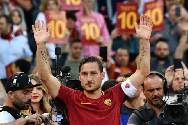 Francesco Totti: The Roma icon's career in numbers