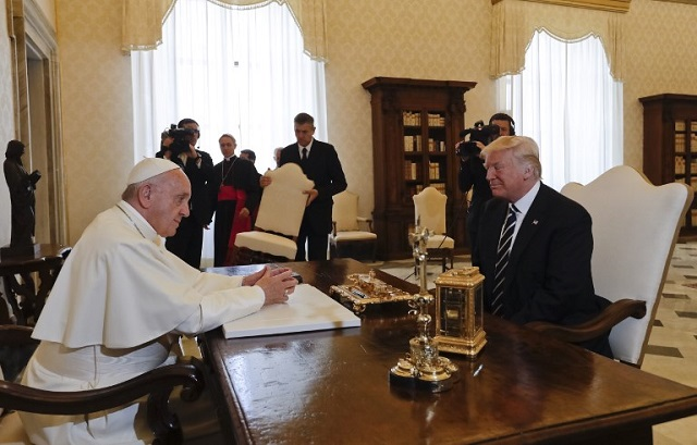 Trump vows to promote peace after 'fantastic' meeting with the pope