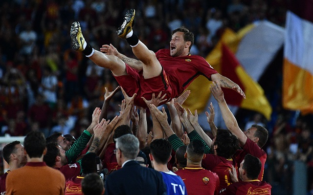 Footballing greats pay tribute to Roma legend Totti