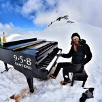 An Italian musician gave the world's highest piano concert at the top of a mountain