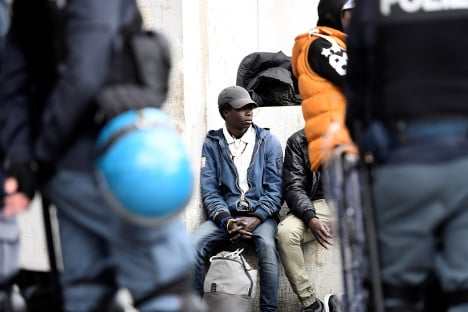 Thirty-six migrants detained outside Milan's central station