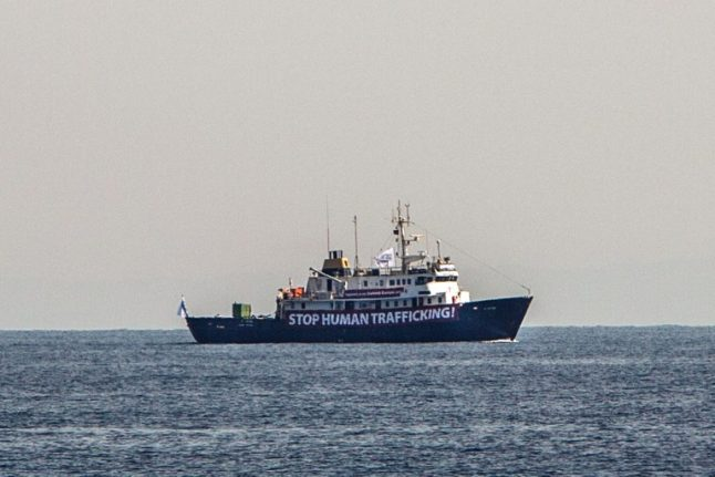 Anti-migrant ship 'did not need' help from rescue activists