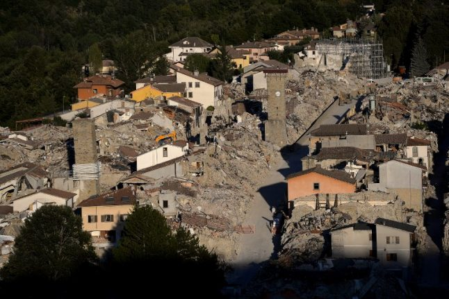Central Italian towns remember victims one year after deadly earthquake