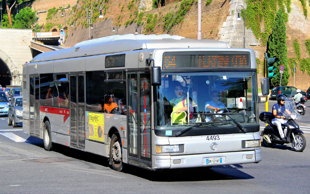 Rome bus driver suspended for offensive comment written on destination display