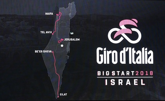 Giro d'Italia unveils Israel start, moving outside Europe for the first time