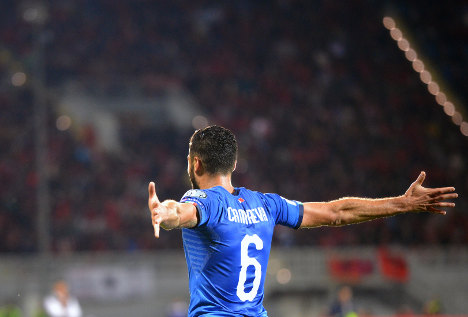 Candreva ensures Italy seeded in World Cup play-offs
